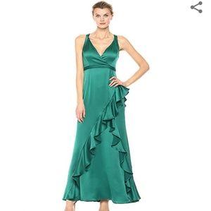 NWT Emerald Green Aidan Mattox Evening Gown